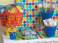 kid pool party ideas | Colorful} Summer Pool Bash