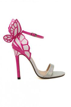 LUCLUC Yellow Pu High-heeled Shoes with Butterfly