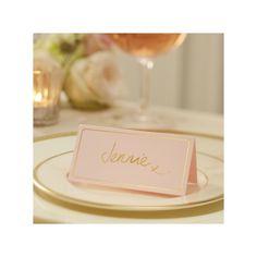 Le marque place carton rose et or