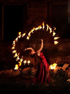 Fire art photography