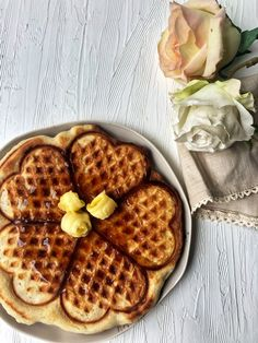 Buttermilk Waffles {eggless}