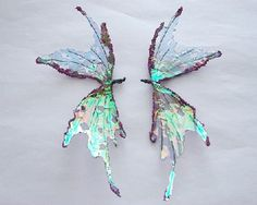 OOAK Fairy Wings-Iridescent-Pixie Fairy Wings-Doll and Bear sized (Made to Order…