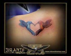 Hummingbird tattoo...representing Momma and Daddy.