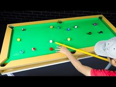 How to make Snooker table from Cardboard Easily make Cue sports table at home using cardboard and MDF sheet. We used ping pong balls and made a mini pool tab. Small Pool Table, Diy Pool Table, Pool Table Room, Diy Table, Ex Box 360, Build Your Own Pool, Mini Pool, Small Pools, Youtube