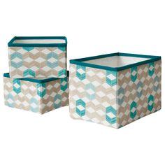 NOTUDDEN Basket, set of 3 - graphical/multicolour - IKEA