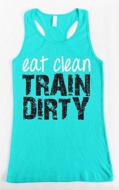 Come limpio, sucio de tren - Teal entrenamiento tanque cabido