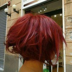 #redhair #red #hair #shorthair #carré #piombato