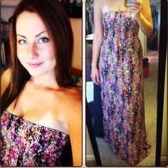 Date night with my man <333 long dress!