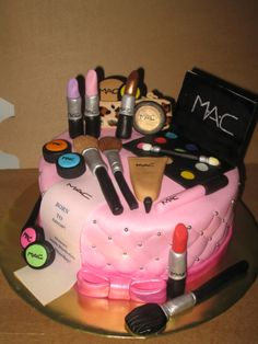 Custom Cakes in Virginia Beach, Specializing in Sculpted Cakes, Military Cakes, Birthday Cakes, Baby Shower Cakes serving Hampton Roads Area Make Up Torte, Make Up Cake, Makeup Birthday Cakes, 18th Birthday Cake, Cupcakes, Cupcake Cakes, Mac Cake, Fashionista Cake, Diva Cakes
