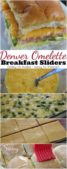 All the flavors of a classic Denver omelette in a delicious mini slider! These are perfect for breakfast, brunch and a great way to feed a crowd! Make an extra batch to freeze for later!
