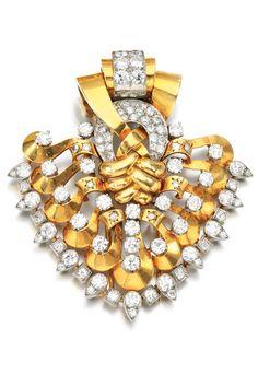 Art Deco Diamond Clip Brooch by Van Cleef & Arpels 1930's