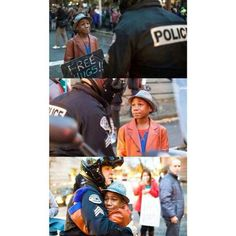 This Photo Of A Police Officer And A Young Boy Hugging At A Ferguson Protest Is Going Viral - BuzzFeed News