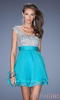 One Shoulder Short La Femme Dress 19456 at PromGirl.com