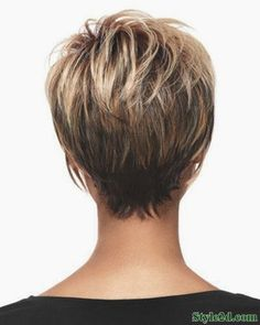 Color.....Medium hair styles back view of short haircuts for women