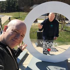 Sunday: Dad waves hello through the O of the LOVE sign at the #Virginia Welcome Center. It says #virginiaisforlovers. Perfect for a couple of lotharios like my dad and me. Hello ladies! We're driving through your state!  #travel #tourism #travelblog #love #roadtrip  I am a: #TravelBlogger #LifestyleBlogger #foodblogger #entertainmentblogger #vlogger #YouTuber #podcaster #radiohost #tvhost #comedian #actor #voiceactor #singersongwriter #cartoonist #screenwriter #filmmaker #copywriter…