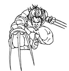 Cartoon X Men Wolverine Coloring Pages For Kids Printable