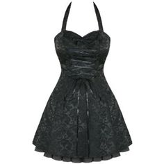 BLACK DAMASK GOTHIC STEAMPUNK EMO PARTY PROM DRESS,£24.99