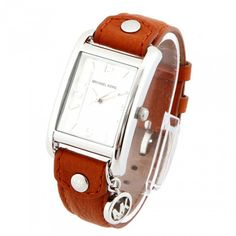 Michael Kors Women's Leather Rectangle Charm Watch » Cool Gadget Gifts for Her