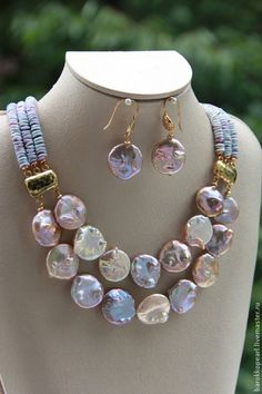 Necklace - pastel colors - it would be better for a summer if the clasps were silver color, not gold, but the stones and beads are great.