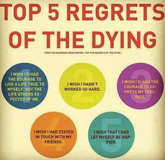 <3 top 5 regrets of the dying <3