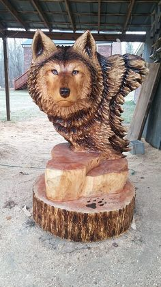 #Chainsaw #carving by Kenny Bowers‎