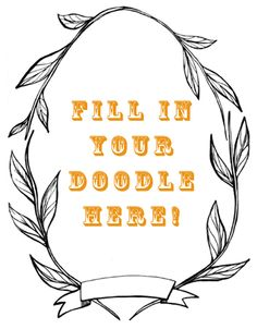 downloadable doodle frame