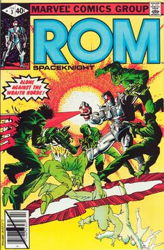 Classic cover by Frank Miller and Terry Austin from ROM #3, published by Marvel Comics,, February 1980.