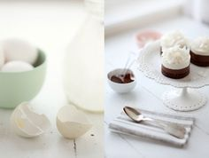 The  simple beauty of cracked egg shells. Photo by Aran Goyoaga of Cannelle Et Vanille