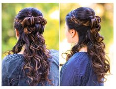 half up wedding hairstyle with a braid | half-up braided hairstyle for long hair www.BingsDesign.com