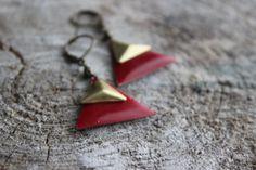 BO675 Boucles d'oreilles déroule triangle par creationjuliedupont, $15.00 Creations, Drop Earrings, Jewelry, Ears, Boucle D'oreille, Locs, Jewlery, Jewels, Jewerly