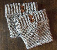 Cream Boot Cuffs - Boot Topper - Crochet Boot Cuff - Women's Leg Warmers