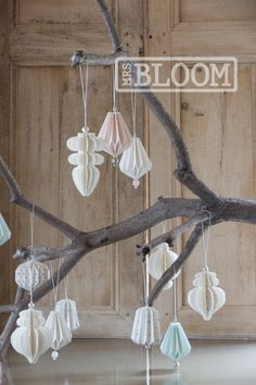MrsBLOOM Collection AW 2014. Paper ornaments eind september verwacht!