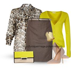 """""""Brown & Yellow"""" by uniqueimage on Polyvore"""