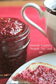 Refrigerator jam, Honey and Raspberries on Pinterest