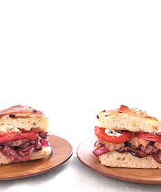 Steak Sandwiches With Balsamic Vegetables