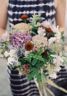 Bouquet Inspiration: Cool #flower #bouquet | Photo by: Mike Radford on Grey Likes Weddings via Lover.ly