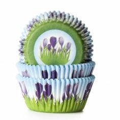 House of Marie Baking Cups Krokus - First Flowers Of Spring, Baking Cups, Babyshower, Decorative Bowls, Tableware, Prints, House, Home Decor, Cottage