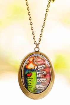 Bohemian Whimsical Art Pendant Necklace Choose Your by LadyArtTalk
