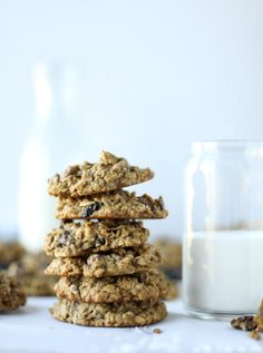 Bourbon Soaked Cherry Oatmeal Chocolate Chip Cookies. | How Sweet It Is