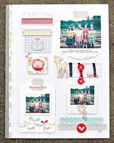 This is so cute with the different sections, photos, and embellishments.