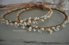 Rustic wedding wreaths with handmade cold porcelain by AMMOUDIA