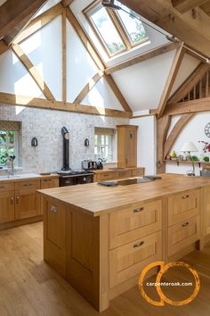 Vaulted Timber Frame Kitchen Frames Homes Self Build Houses Home