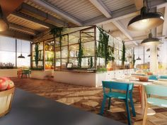 Nini Restaurant, Berlin. You can eat in the open area, or in the greenhouse, built with pieces of old sheds.