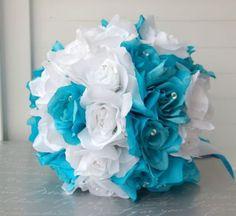 15pc Turquoise Blue White Wedding