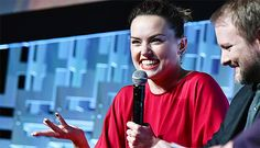Daisy Ridley during the 'Last Jedi' Panel at Star Wars Celebration