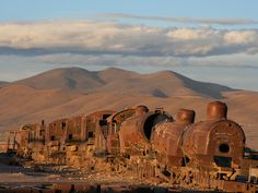The Beautiful Junkyard Where Bolivia's Trains Were Left to Rot | The train cemetery is just outside Uyuni, Bolivia, near the world's largest salt flat.   Graham Styles/Flickr  | WIRED.com