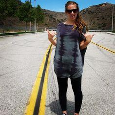 Top by Dolan Tie Dye Jersey Hippie Boho Coachella