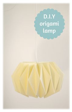 "Make sure the ""English"" version directions are clicked before downloading the pdf from the site- this Origami Folded Pendant Light is simple yet sophisticated, via Counterpoint Design Studio source: http://work-and-process.blogspot.nl/2012/11/weekend-diy-origami-lampenkap.html"