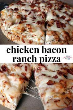 Bacon Ranch Pizza Homemade chicken bacon ranch pizza is the bomb!Homemade chicken bacon ranch pizza is the bomb! Chicken Bacon Ranch Pizza, Bacon Pizza, Pizza Ranch, Chicken Alfredo Pizza, Ranch Chicken, Pizza Pizza, Cool Pizza, Pizza With Chicken, Barbecue Chicken Pizza
