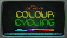 The lost art of color cycling